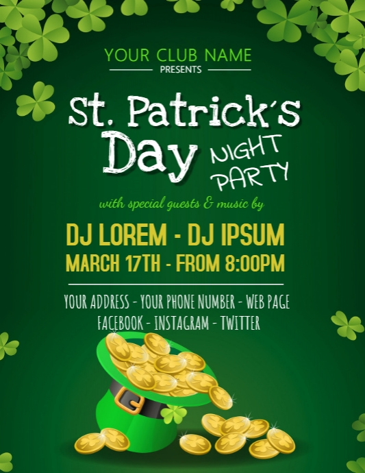 St. Patrick´s Day Flyer Poster Event