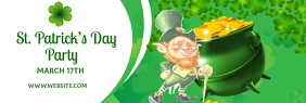 St. Patrick's Day Party LinkedIn 横幅 template