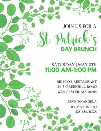 St. Patrick Day Brunch Invitation ใบปลิว (US Letter) template
