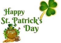 St. Patrick Day Postal template