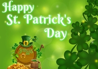 St. Patrick Day Postcard template
