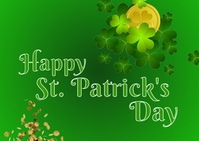 St. Patrick Day Briefkaart template