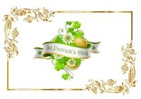 St. Patrick Day Postkarte template