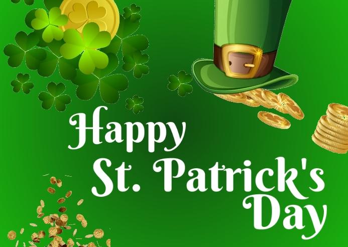 St. Patrick Day Kartu Pos template