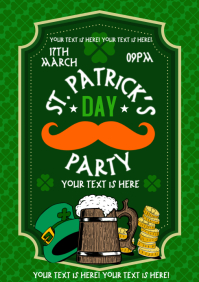 ST. PATRICK'S DAY POSTER A4 template