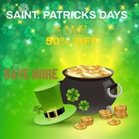 St. Patricks Day Instagram Post template