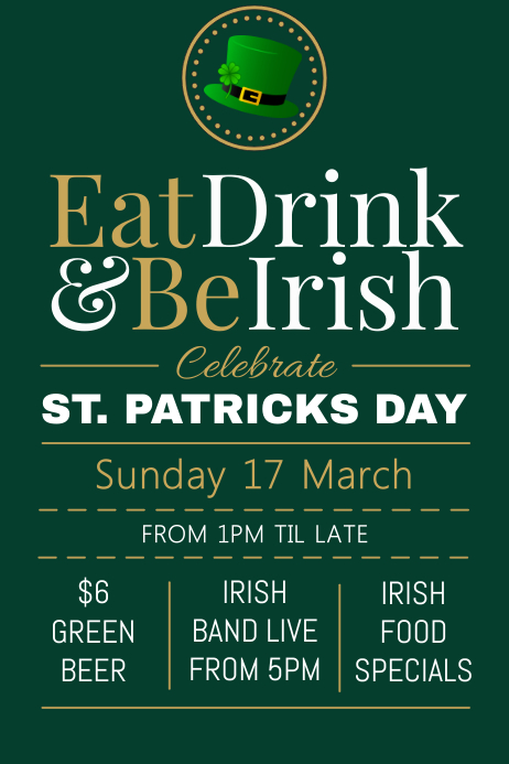 St. Patricks Day Poster template