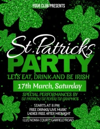 st. patricks day flyer, saint patrick template