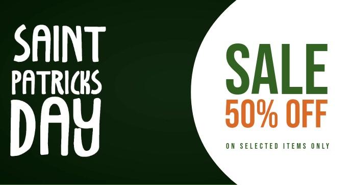 St. Patricks day sale template