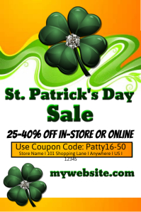St. Patricks Day Sales Event Template
