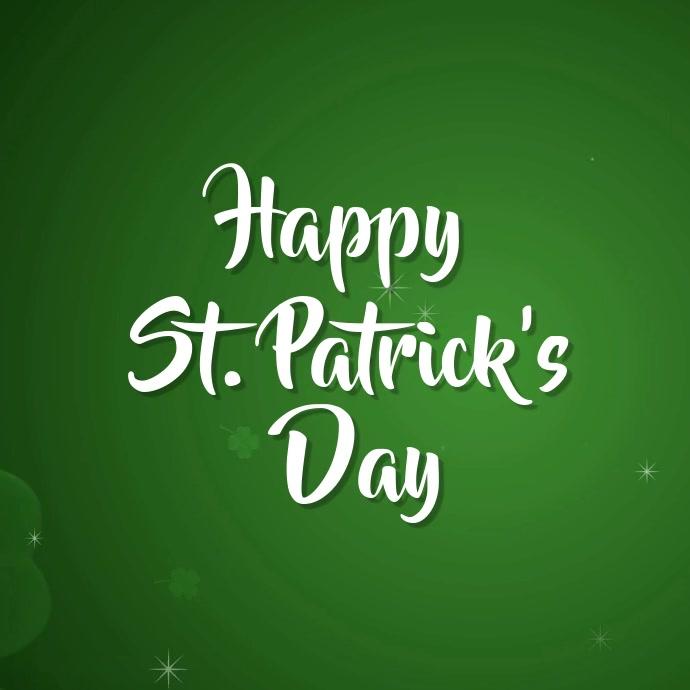 St. Patricks day template