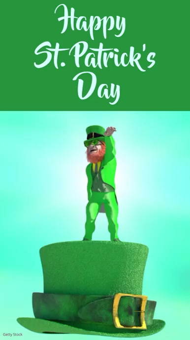 St. Patricks day template