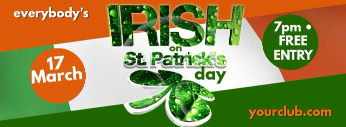St. Patricks Day Template fb Couverture Facebook