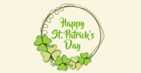 st. patricks Facebook Shared Image template