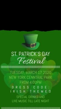 St. Patricks Flyer Poster