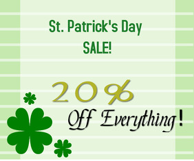 st. patricks sale Medium Rectangle template