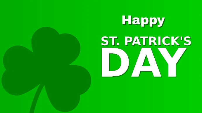 st.patrick's day Tampilan Digital (16:9) template