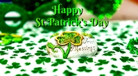 st.patrick's day Display digitale (16:9) template