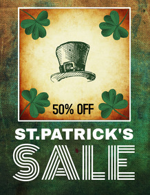 ST.patrick's flyers,event flyer templates,retail templates