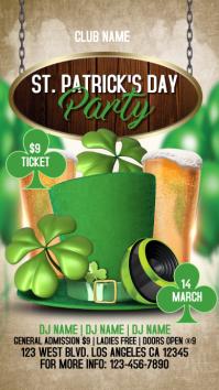ST.Patrick's Party IG STORY เรื่องราวบน Instagram template