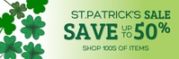 St.Patrick's Retail Banner แบนเนอร์ 2' × 6' template