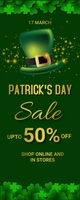 St.Patrick.Patricks, event, party Rullebanner 2' × 5' template