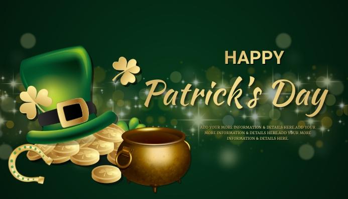 St.Patrick.Patricks, event, party Encabezado de blog template