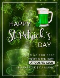 St.Patricks, event, sale, party Volante (Carta US) template
