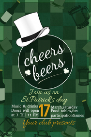 St.patricks day templates,party templates,event poster