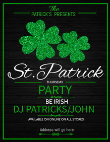 St.patricks flyer template,event flyer template,party