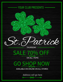 St.patricks flyer template,event flyer template,retail