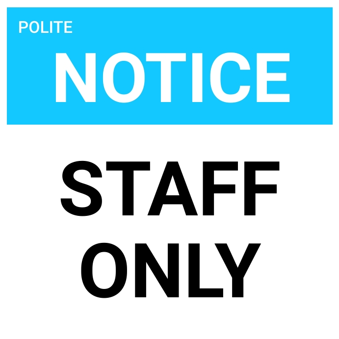 STAFF ONLY flyer Message Instagram template