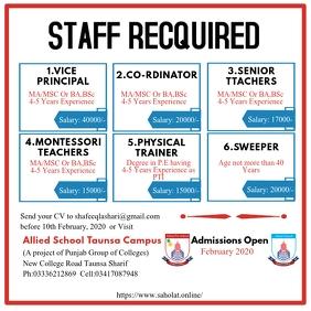 Staff Recquired