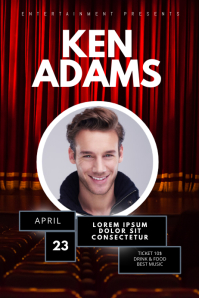 stage event concert theatre flyer template