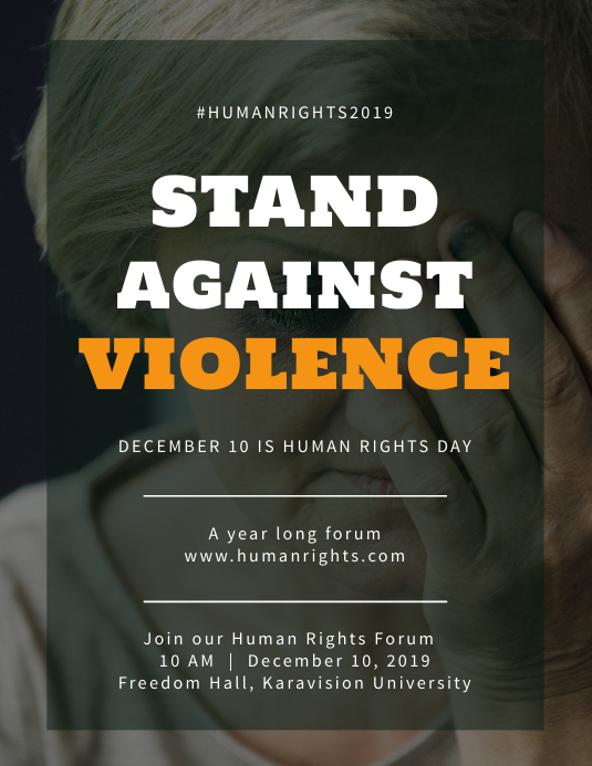 Stand against violence Flyer