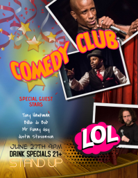 Stand Up Comedy Club Flyer Template