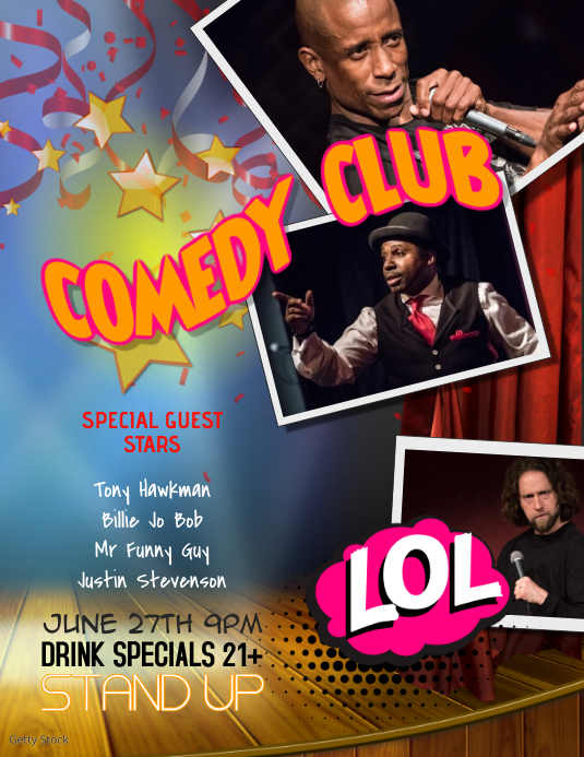 Stand Up Comedy Club Flyer Template Volante (Carta US)