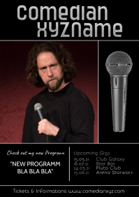 Stand up Comedy Comedian Artist Flyer Poster A4 template