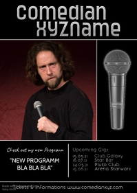 Stand up Comedy Comedian Artist Flyer Poster Upcoming Gigs