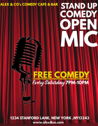STAND-UP COMEDY Flyer (US Letter) template