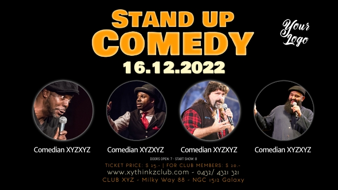 Stand up comedy Event Cover Theatre Show Ad