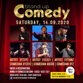 Stand up Comedy Event Facebook Instagram Post