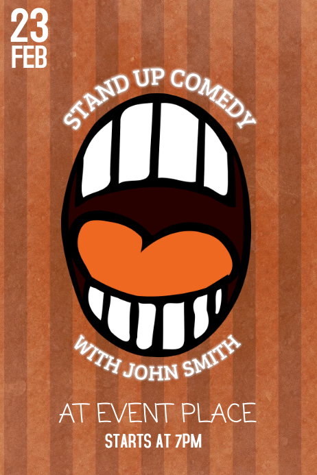 stand up comedy event poster