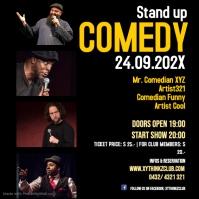 Stand up Comedy Event square size Post Social Media Publicação no Instagram template