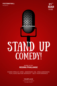 Stand up Comedy Flyer Design template