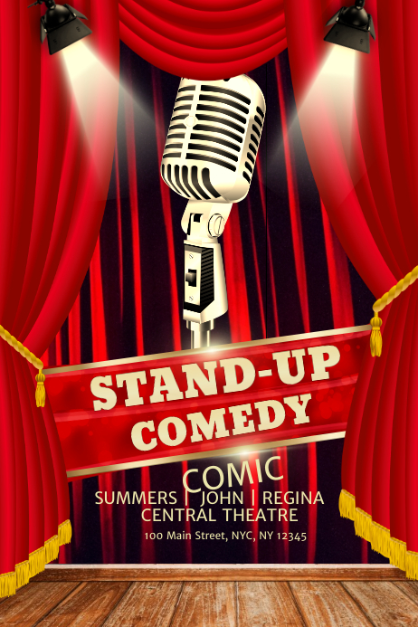 stand up comedy poster template