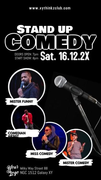 Stand up Comedy Microphone Artists Comedians Instagram-verhaal template