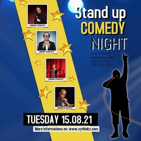 Stand up Comedy Night Advert Video Square