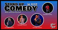 Stand up Comedy Night Show Banner Ad Anuncio de Facebook template