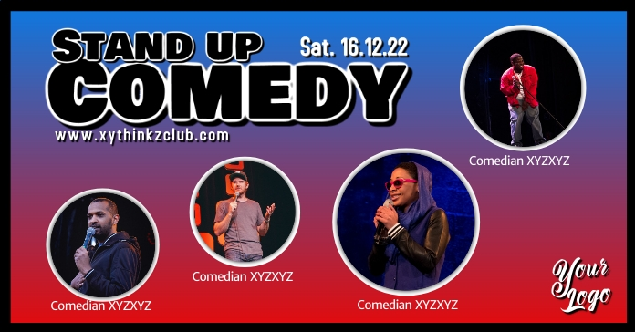 Stand up Comedy Night Show Banner Ad Facebook-annonce template